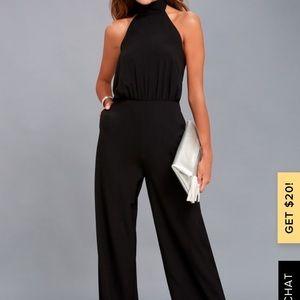 Lulus black halter jumpsuit